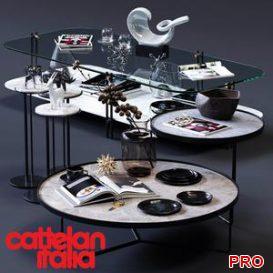Cattelan Italia Coffee Tables Set 02 3d model Download  Buy 3dbrute