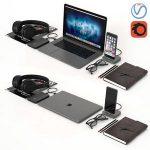 Workplace Space Gray MacBook 3d model Download  Buy 3dbrute
