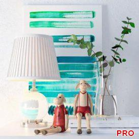 Lamp Eichholtz Octavia  paintings Jan Ombre and decor 3d model Download  Buy 3dbrute
