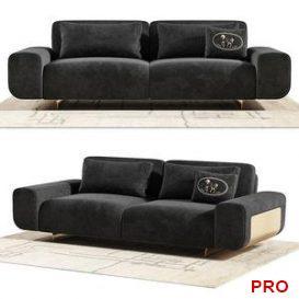Fendi Casa Camelot Sofa 3d model Download  Buy 3dbrute