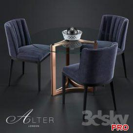 Bespoke Dining Chair 418 Cino Dining Table 3d model Download  Buy 3dbrute