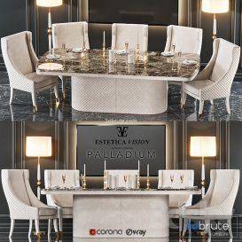 Table  chair Palladium 3d model Download  Buy 3dbrute
