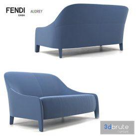 Fendi casa Audrey Loveseat 3d model Download  Buy 3dbrute
