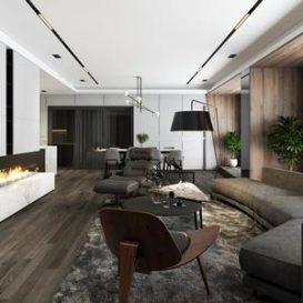 Living room scene 17 3dbrute