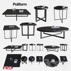 POLIFORM COFFEE TABLES YARD 3d model Download  Buy 3dbrute