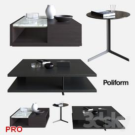 POLIFORM COFFEE TABLES BRISTOL  CLASS   BABA 3d model Download  Buy 3dbrute
