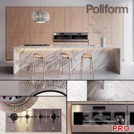 Kitchen Poliform Varenna Trail 2 3d model Download  Buy 3dbrute