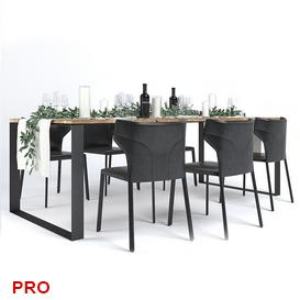 Natuzzi Pi Greco Dinning 3d model Download  Buy 3dbrute