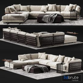 FLEXFORM CESTONE Corner Sofa 3d model Download  Buy 3dbrute
