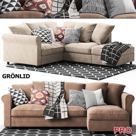gronlidcorner  Sofa P9 3d model Download  Buy 3dbrute