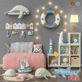 Toys and furniture set 27 3d model Download  Buy 3dbrute