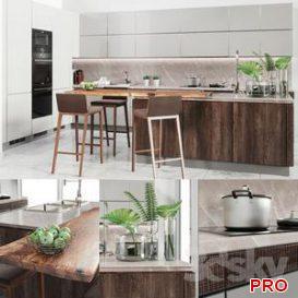Cocina Verona Mod wood 3d model Download  Buy 3dbrute