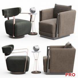 Caracole Chair Set 3d model Download  Buy 3dbrute