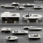 Minotti Milton Coffee Tables 3d model Download  Buy 3dbrute