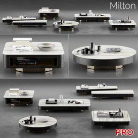 Minotti Milton Coffee Tables 3d model Download  Buy 3dbrute