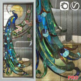 Stained Glass Peacock 3d model Download  Buy 3dbrute
