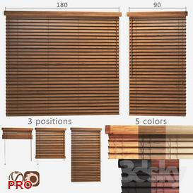 Wooden blinds 50mm 2 options of width 90 and 180cm 3d model Download  Buy 3dbrute