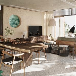 Living room scene 24 3dbrute