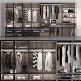 wardrobe Poliform wardrobe 3d model Download  Buy 3dbrute