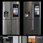 Refrigerator Samsung RF22K9581SR 3d model Download  Buy 3dbrute