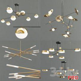 Four Exclusive Chandelier Collection 18 3d model Download  Buy 3dbrute
