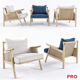 Linen cane chair 3d model Download  Buy 3dbrute