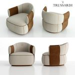 Trussardi Casa Larzia Armchair 3d model Download  Buy 3dbrute