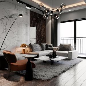 Living room scene 9 3dbrute