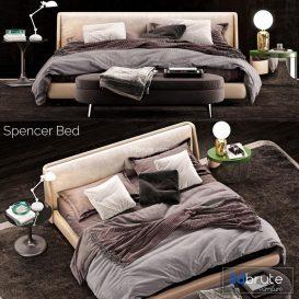 Minotti Spencer  Bed b19 3d model Download  Buy 3dbrute