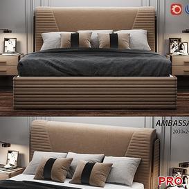 Estetica Ambassador  Bed b44 3d model Download  Buy 3dbrute