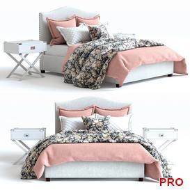 pb raleigh pink 2 Bed b55 3d model Download  Buy 3dbrute