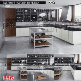 Barrique  Cucina in vetro kitchen P3 3d model Download  Buy 3dbrute