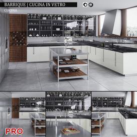 Barrique  Cucina in vetro kitchen P3 3d model Download  Buy 3dbrute