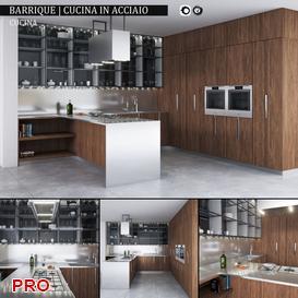 Barrique Cucina in acciaio  kitchen P5 3d model Download  Buy 3dbrute