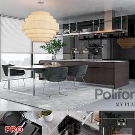 Brea kitchen P11 3d model Download  Buy 3dbrute