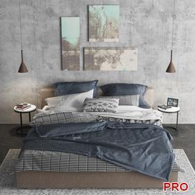 meridiani louis Bed b98 3d model Download  Buy 3dbrute