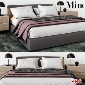 minotti towell  Bed b104 3d model Download  Buy 3dbrute