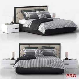 krovat Edward Cattelan Italia Bed b108 3d model Download  Buy 3dbrute