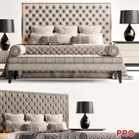 S CC Rossini Bed b112 3d model Download  Buy 3dbrute