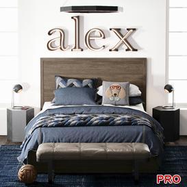 FORREST STORAGE BED Bed b116 3d model Download  Buy 3dbrute