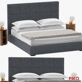 Bardo Meridiani Bed b133 3d model Download  Buy 3dbrute
