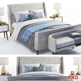 Sleigh Bed b142 3d model Download  Buy 3dbrute