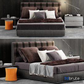 Minotti Powell  Bed b146 3d model Download  Buy 3dbrute