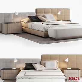 minott lawrence Bed b162 3d model Download  Buy 3dbrute