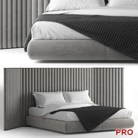 Flexform Biarritz Bed b166 3d model Download  Buy 3dbrute