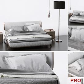 Le Fablier SUNRISE Bed b182 3d model Download  Buy 3dbrute