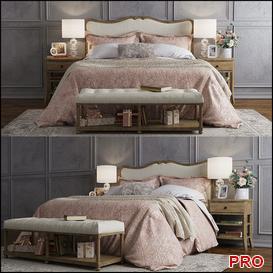 Claremont Bed b187 3d model Download  Buy 3dbrute