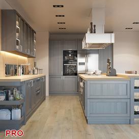 kuhna fortvud kitchen P43 3d model Download  Buy 3dbrute