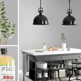 island kitchen P47 3d model Download  Buy 3dbrute