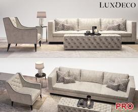 Luxdeco living room set Sofa P46 3d model Download  Buy 3dbrute